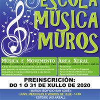 ESCOLA DE MÚSICA | Abrimos o prazo da preinscrición na escola municipal de música para o curso escolar 2020/21