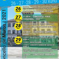 FESTAS   SAN PEDRO 26 – 27 -28 – 29 – 30 xuño   Concello de Muros – 2021